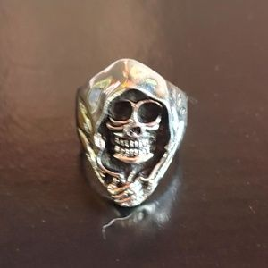 Grim reaper hood ring